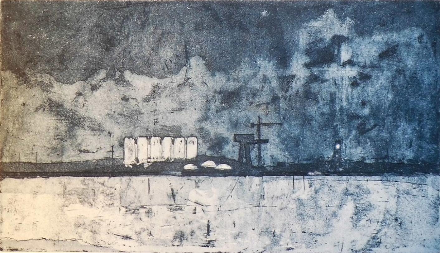 The Docks Etching by Jamie Barnes