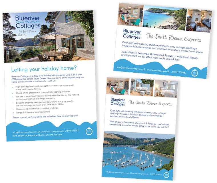 Adverts we have design for Blue River Cottages