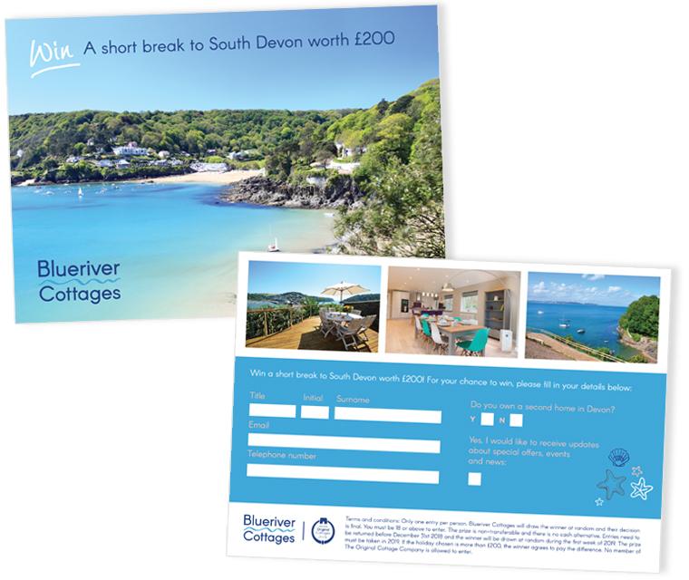 Blue River Cottages competition flyer design