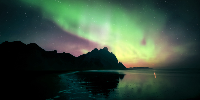 artists Jonathan Besler, Kevin May and Florian Gampert use a drone to capture Iceland and the Northern Lights