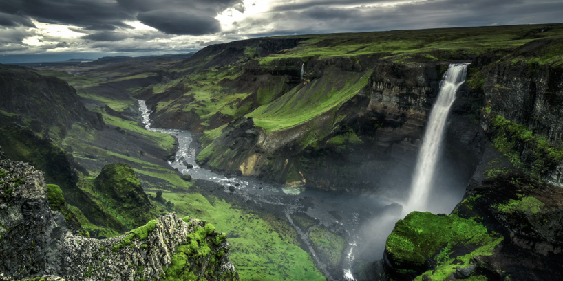 artists Jonathan Besler, Kevin May and Florian Gampert use a drone to capture Iceland