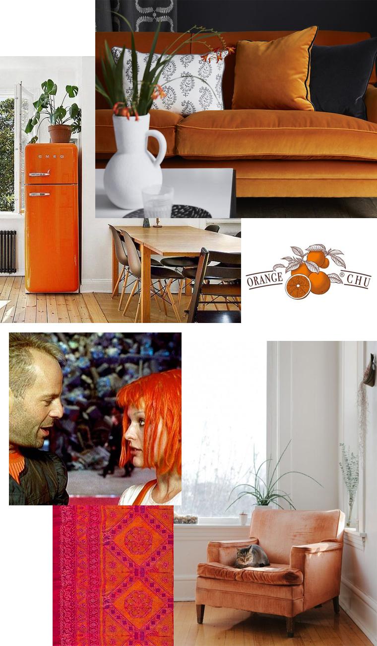 Orange colour inspiration