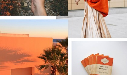 Orange mood board
