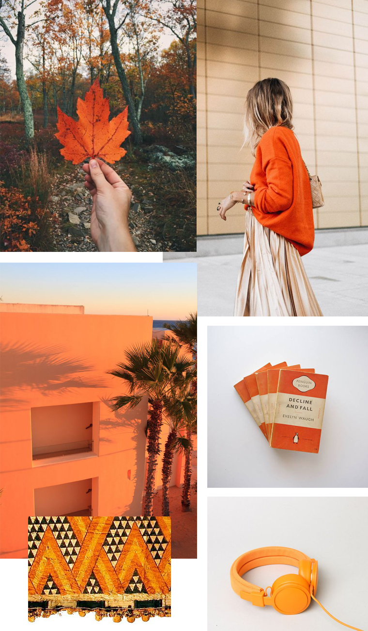 Orange mood board