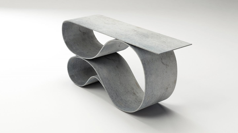 Elegant concrete canvas table by Neal Aronowitz
