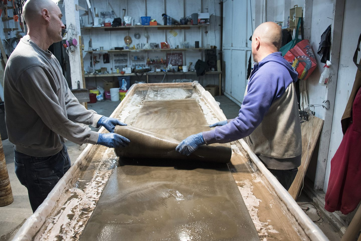 Making the elegant concrete canvas table by Neal Aronowitz