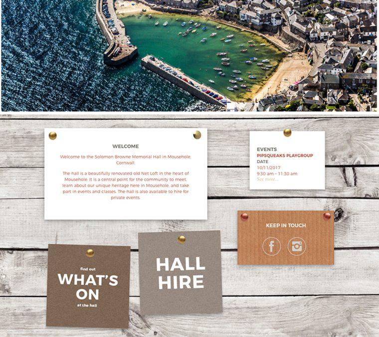 Solomon Browne memorial hall website by Pickle Design