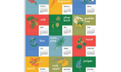 The Pickle Design 2018 calendar of British trees