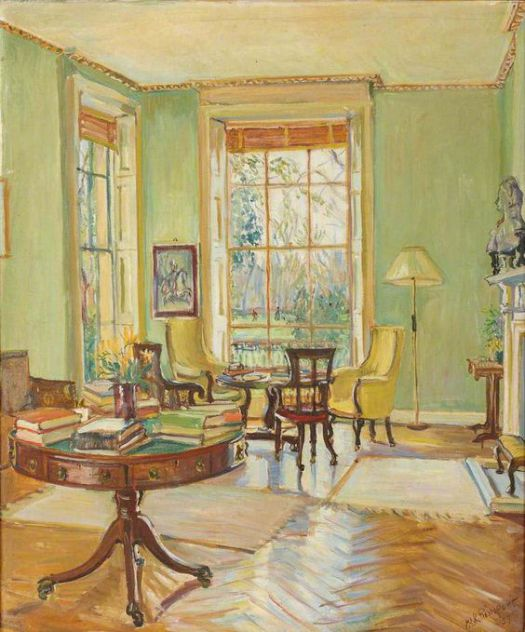 Painted room by Marie-Louise Roosevelt Pierrepont