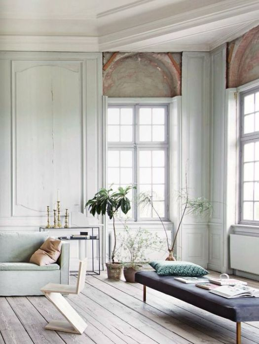 soft and subtle colour scheme for interiors