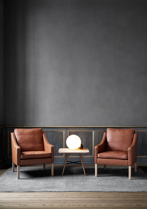 Leather seats from the Mogensen Collection, Danish designer