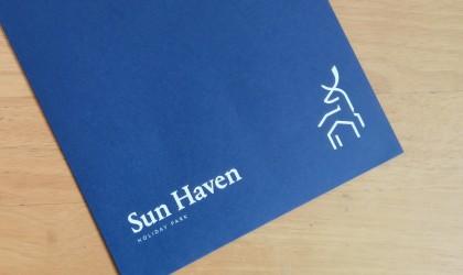 Blue Pantone printed envelopes