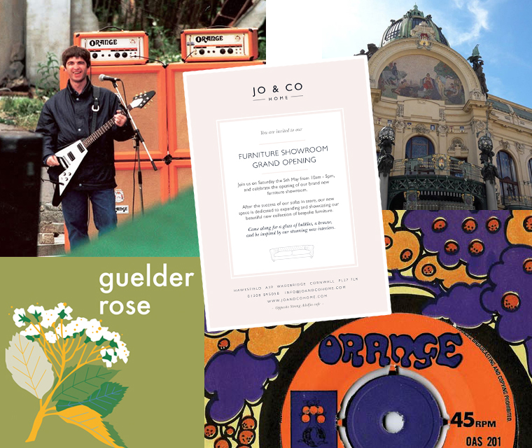 June round up - advert design, Prague travel photography, Orange amps, Oasis and psychedelic record design