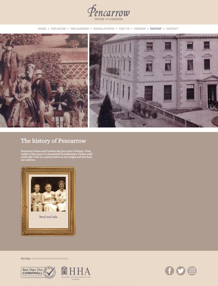 The history of Pencarrow