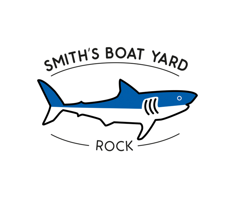 Smith's Boat Yard Rock logo design