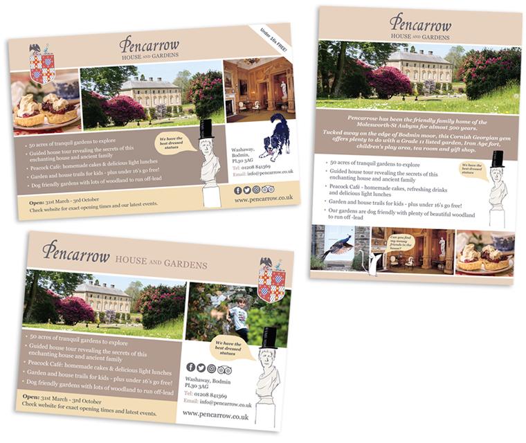 Advert design for Pencarrow House and Gardens