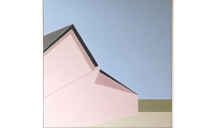 Architectural paintings of Mid Century buildings by Mark Dyball