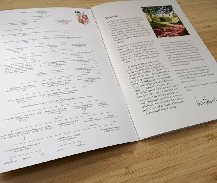 The family tree of the historic Pencarrow house and Molesworth-St Aubyns family