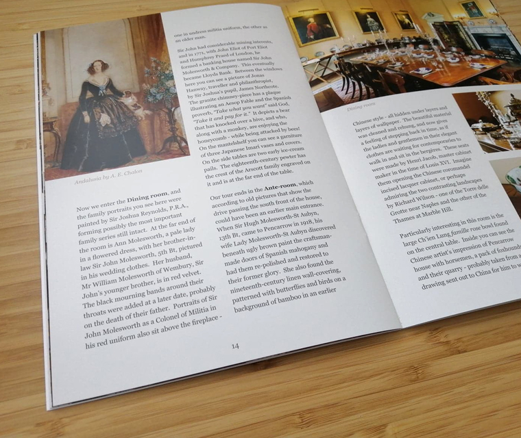 Pencarrow House and Gardens near Wadebridge guide book featuring family history and beautiful pictures