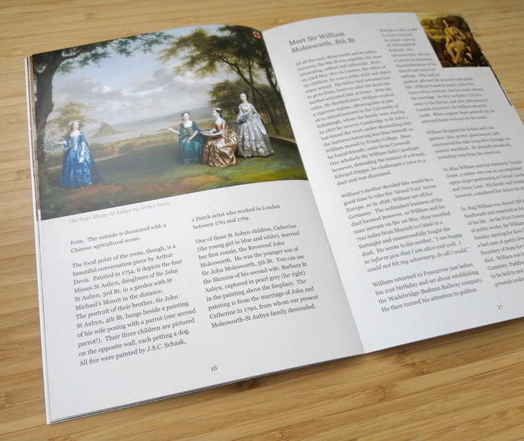 Pencarrow House and Gardens guide book featuring the family history