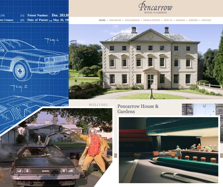 Inside the July 2018 newsletter featuring the DeLorean car