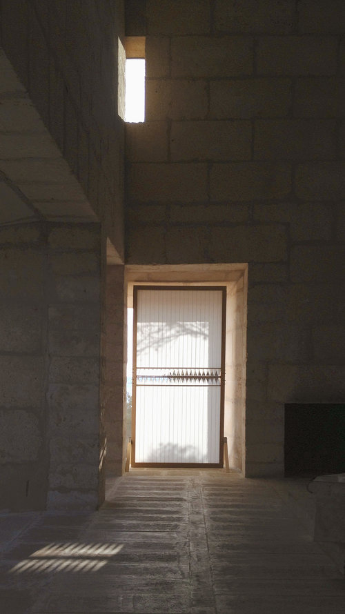 Unusual window treatment, the KUFtwist blind