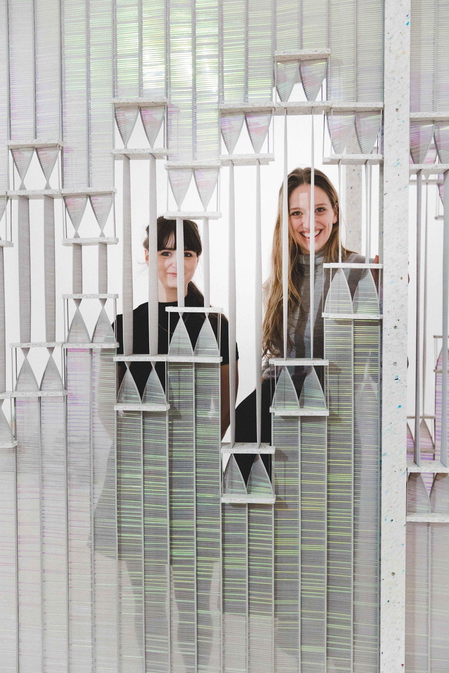 Unusual window treatment, the KUFtwist blind by designers Kia Utzon-Frank and Fay McCaul