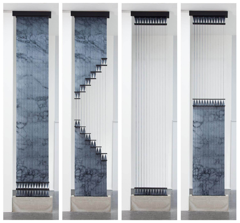 Unusual window treatment, the KUFtwist blind in marble
