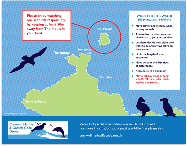 Cornwall Marine and Coastal Code pocket map