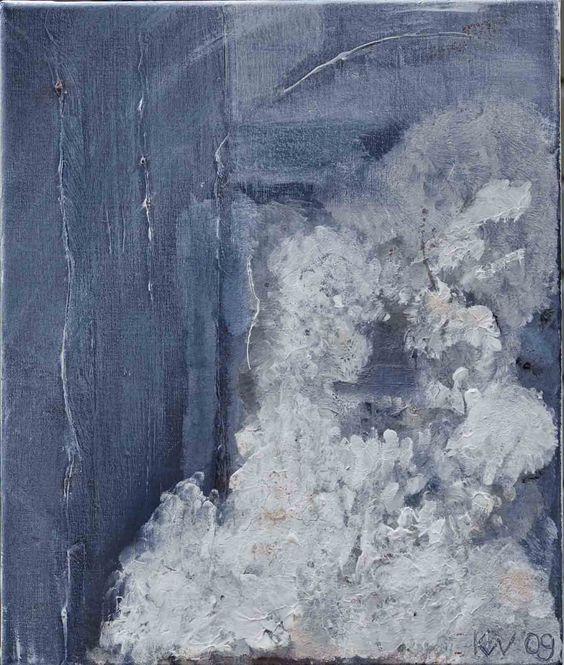Blue abstract art by Irene de Klerk Wolters