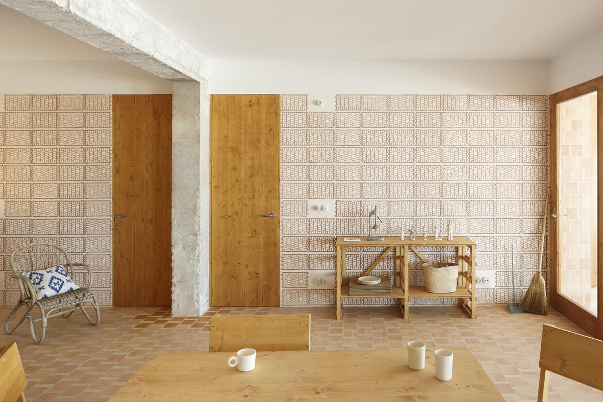 Plaster filled terracotta tiles