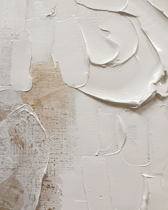 Close up of abstract artist Irene de Klerk Wolters work