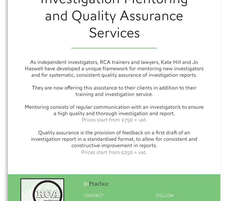 RCA Health Care Letterhead and Document design