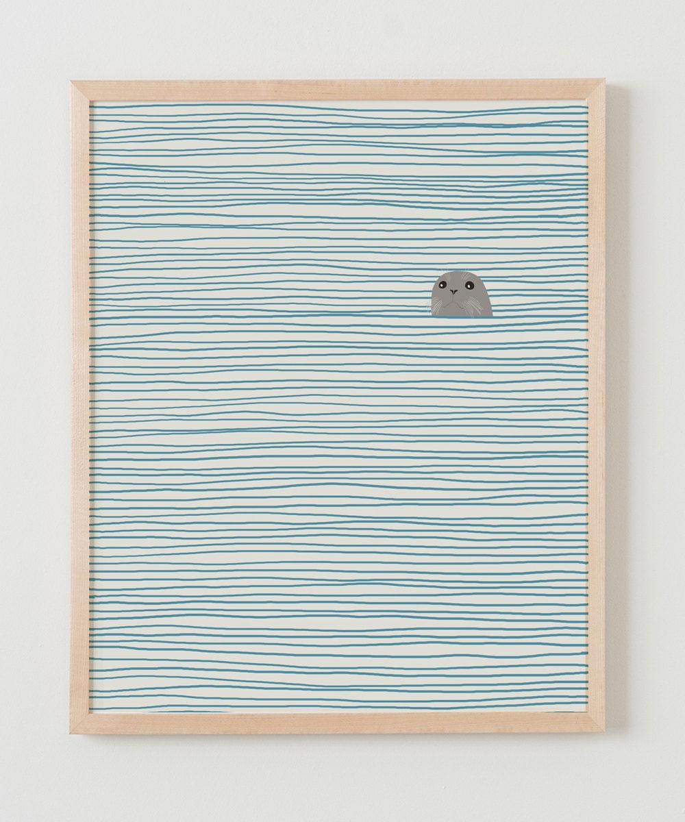 Seal at sea by Jorey Hurley