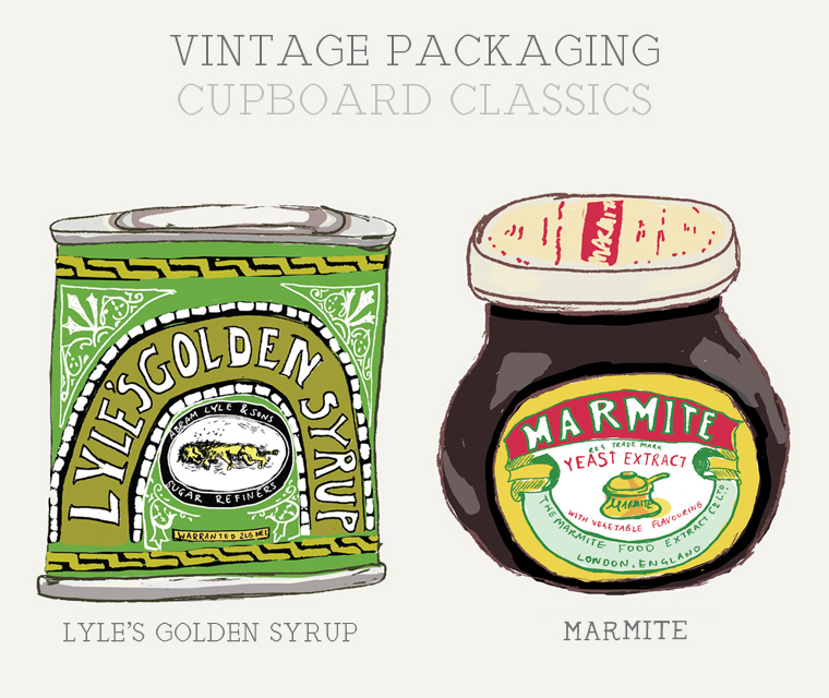 Newsletter featuring Marmite and Golden Syrup packaging design
