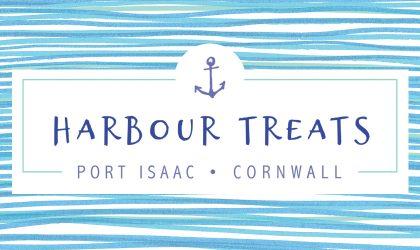 Logo design for Port Isaac based sweet shop Harbour Treats