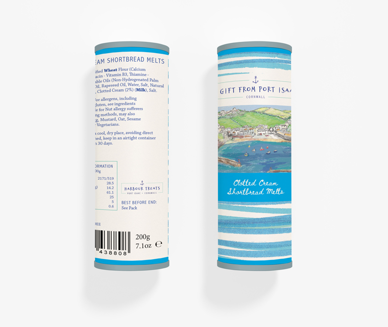 Biscuit packaging design for Port Isaac's Harbour Treats
