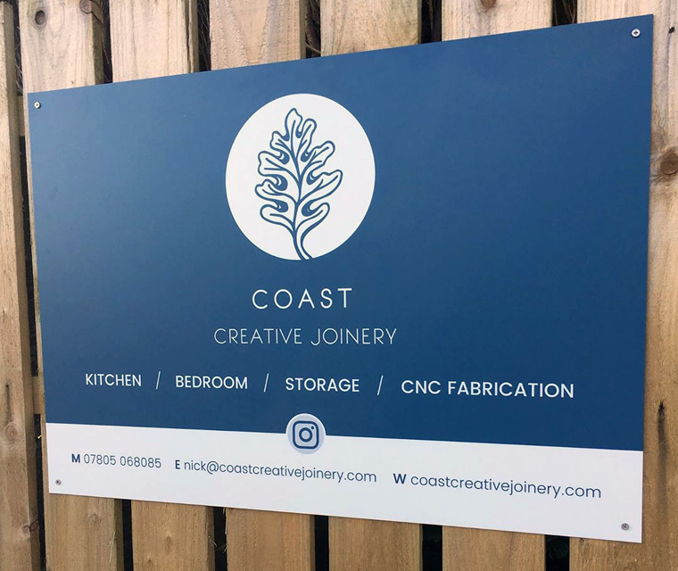 Sign Board design for Coast Creative Joinery