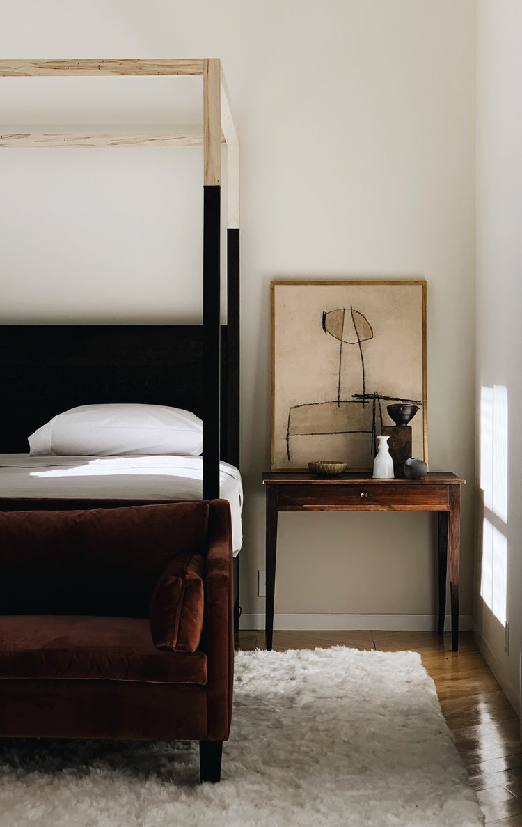 Colin King styled dark and broody bedroom