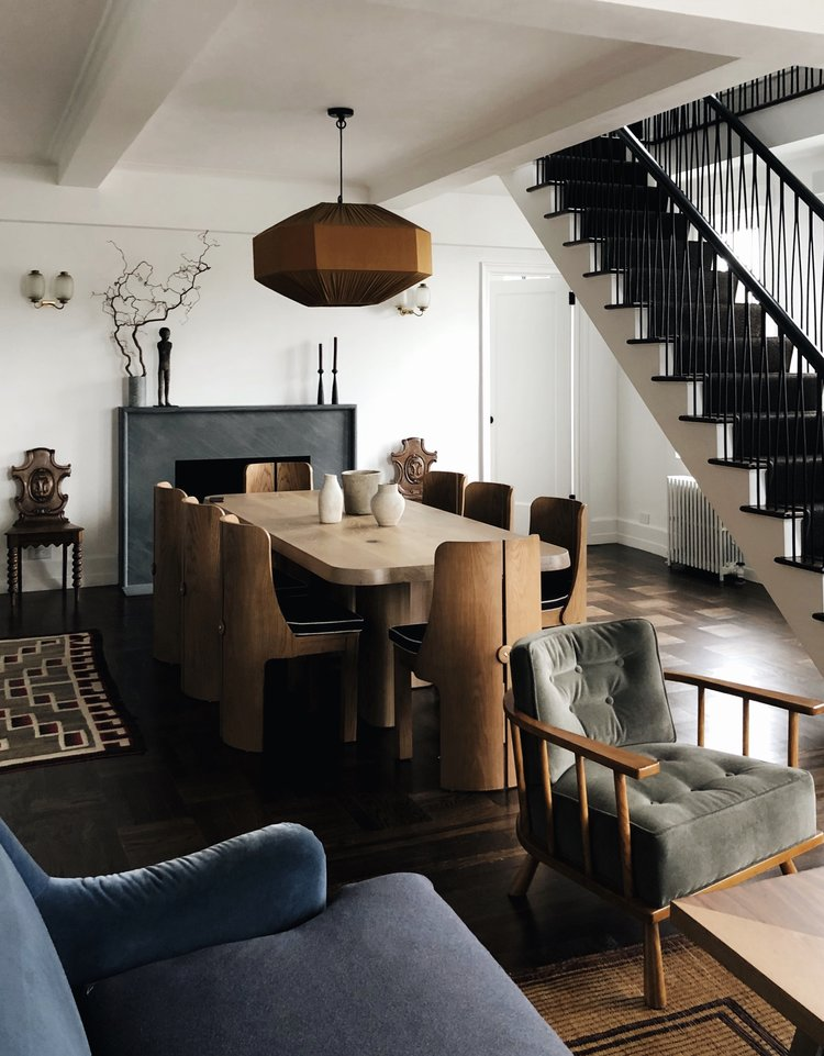 Dining area in a traditional but modern style