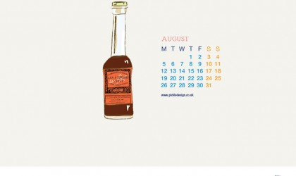 Download our August vintage food packaging calendar of Lea and Perrins Worcester Sauce for free for your mobile, tablet and desktop computer background