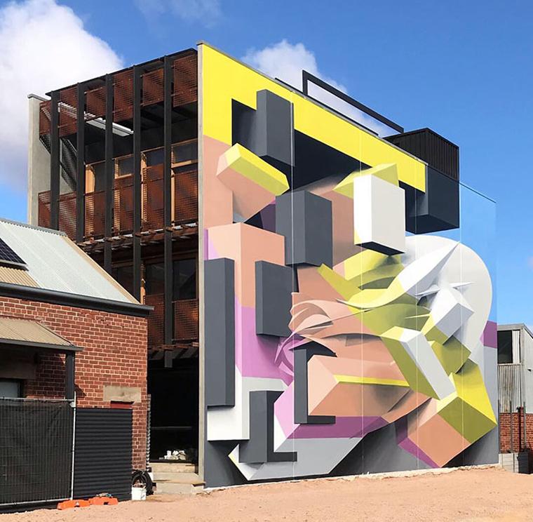Optical illusion 3d graffiti art