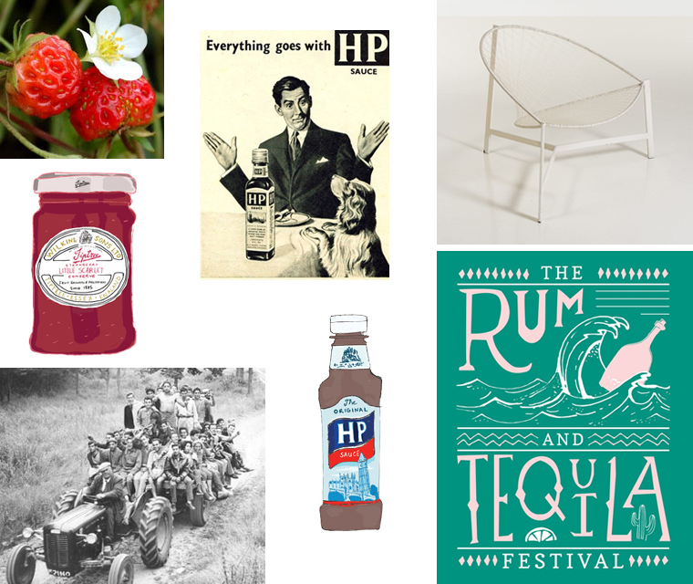 Sneak peek for early summer newsletter with Tiptree jam and HP sauce