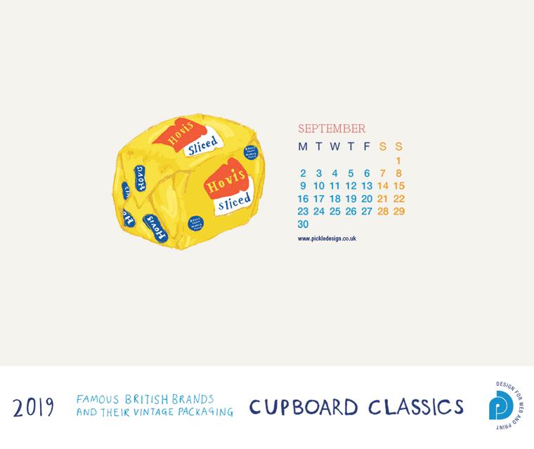 Download our September vintage food packaging calendar of Hovis bread for free for your mobile, tablet and desktop computer background