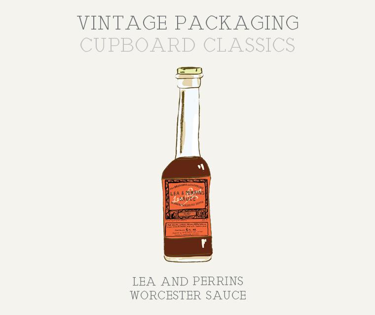 Cupboard Classics Lea and Perrins Worcester Sauce vintage illustration