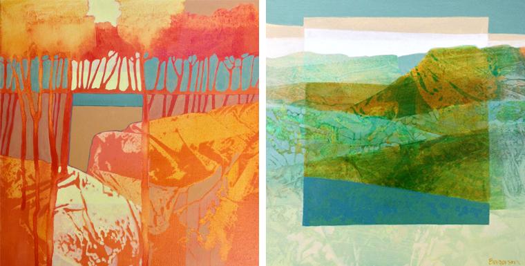 Judith Bergerson paints landscapes