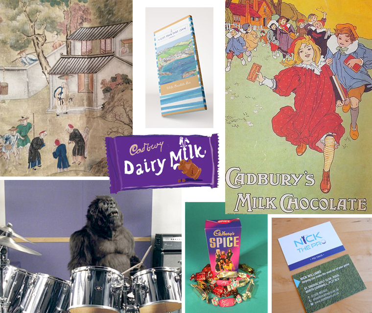 Sneak peek collage from this months newsletter featuring Cadbury's chocolate, Harbour Treats and Chinese wallpaper