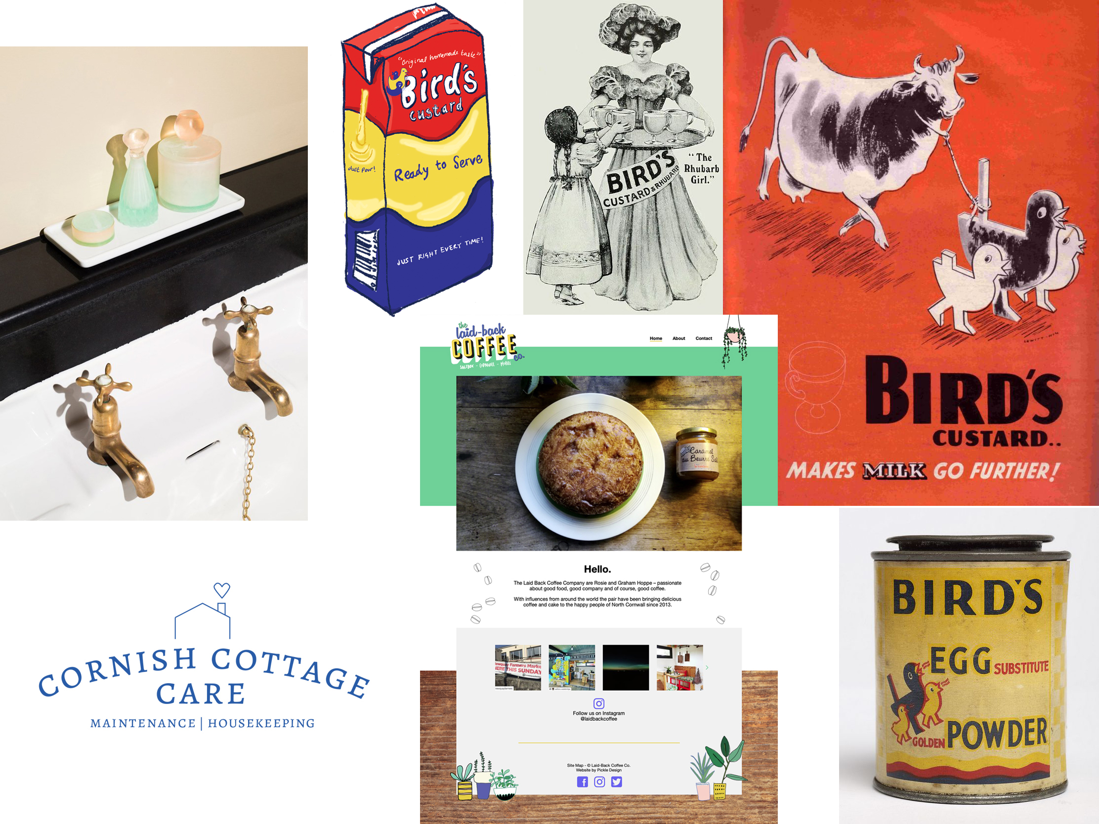 In our November newsletter, sustainable packaging, vintage Bird's Custard, web design and logo design