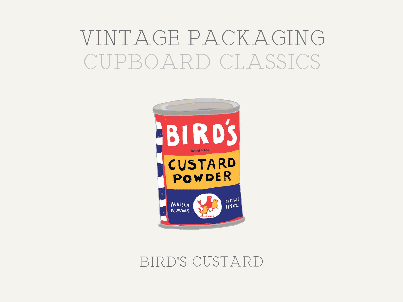 The November newsletter featuring the vintage illustration of Bird's Custard