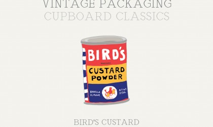 The November newsletter featuring the vintage illustration of Bird's Custard